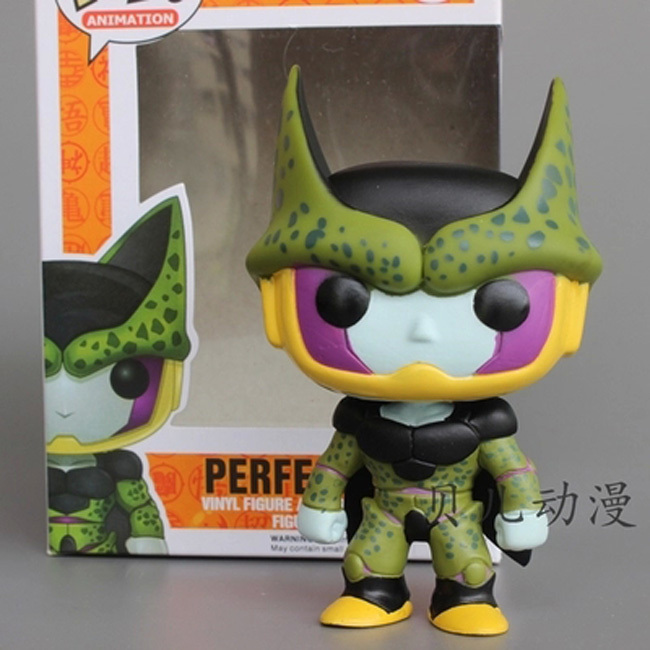 FUNKO POP Cute 10cm Dragon Ball DRAGONBALL Z Perfect Cell Vinyl Action Figure collection Model Toys anime brinquedos juguetes(China (Mainland))