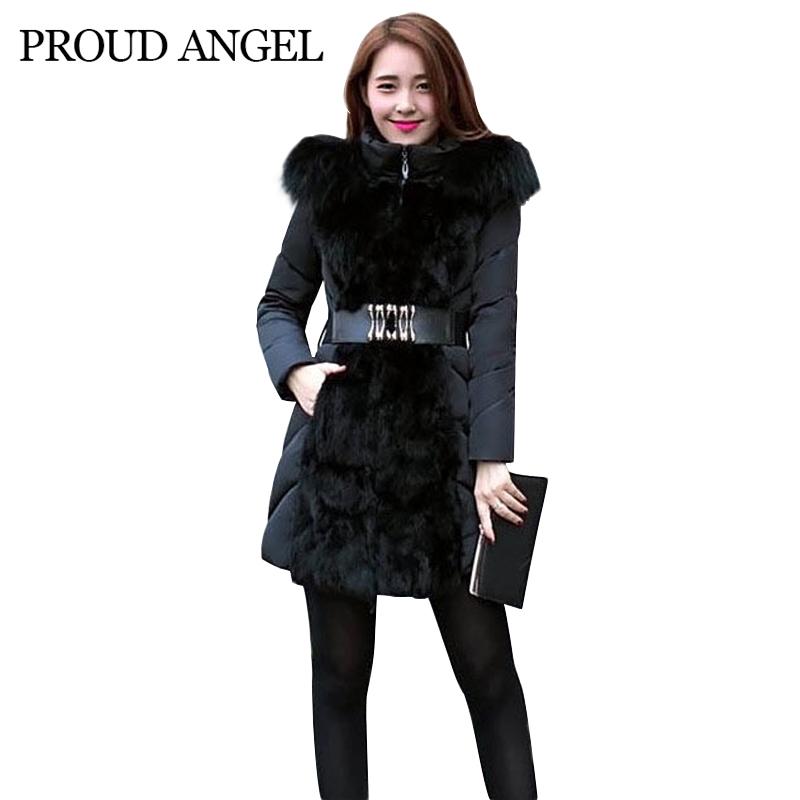 Зима куртка длинная, женщины зима пальто женщины куртки и пальто парки дамы мех воротник верхней одежды черный / beige WBK-068