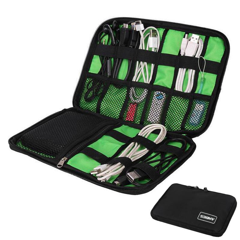 ANBES Organizer System Kit Case Storage Bag Digital Gadget Devices USB Cable Earphone Pen Travel Insert Portable Organizador(China (Mainland))