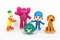 5PCS Pocoyo doll toy P Yoyo Toy Figures Pocoyo Loula Model Elly Action Figures Pato Doll