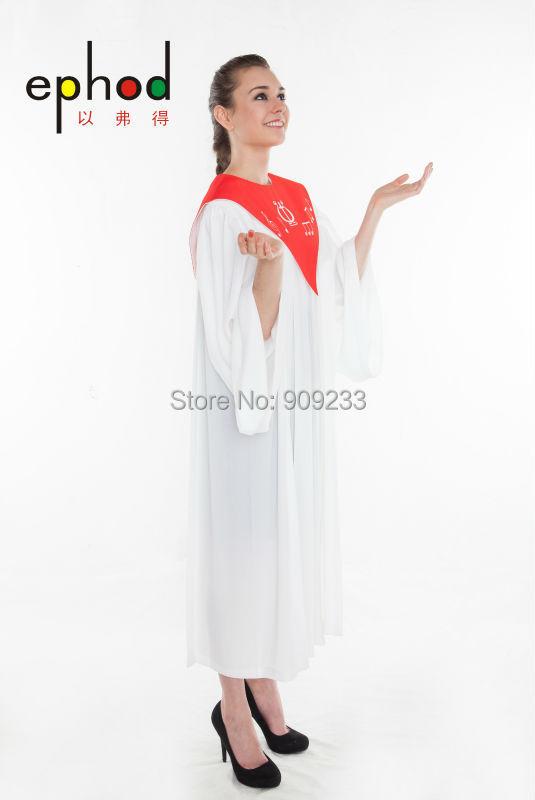 Choir robe - SSF182 - Ephod Christian Apparel - Church Worship Cleric suits Gown Catholic(China (Mainland))