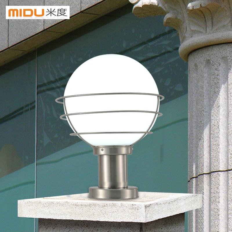 Ball stainless steel column head outdoor lamp the door for Landscape pillar lighting