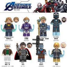 KF6076 SY1313 4 Espaço Jogo de Final de Super-heróis Vingadores MINI Micro Máquina de Guerra Figuras Hulk Legoings Brinquedos de Blocos de Construção Compatíveis(China)