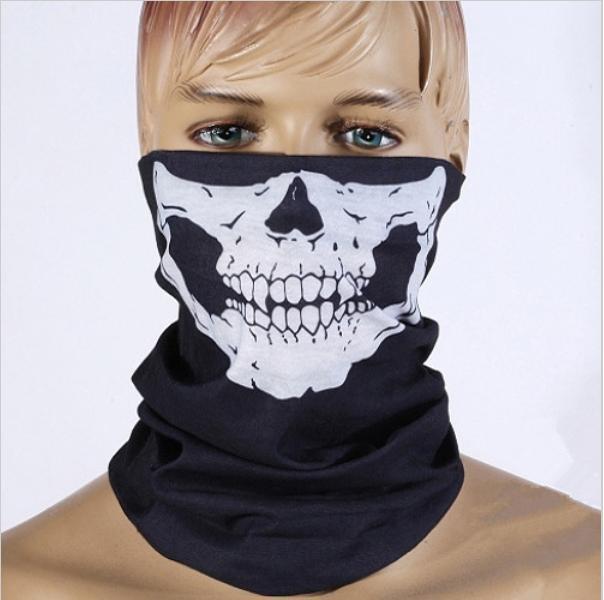 Free shipping Counter Strike Cosplay Ghost Skull Black Face Mask Biker Balaclava Call of Duty(China (Mainland))