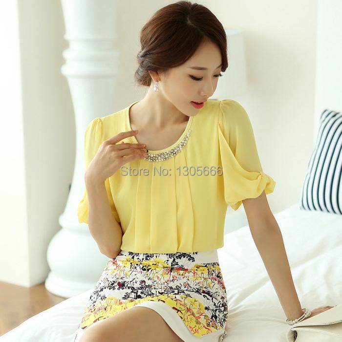 Женские блузки и Рубашки Brand  new Blusas Femininas 2015 Camisas s m l XL S-M-L-XL
