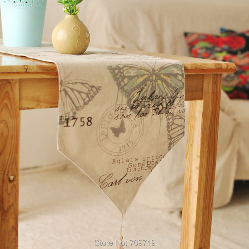 European Style Butterfly Modern Table Runner Patterns
