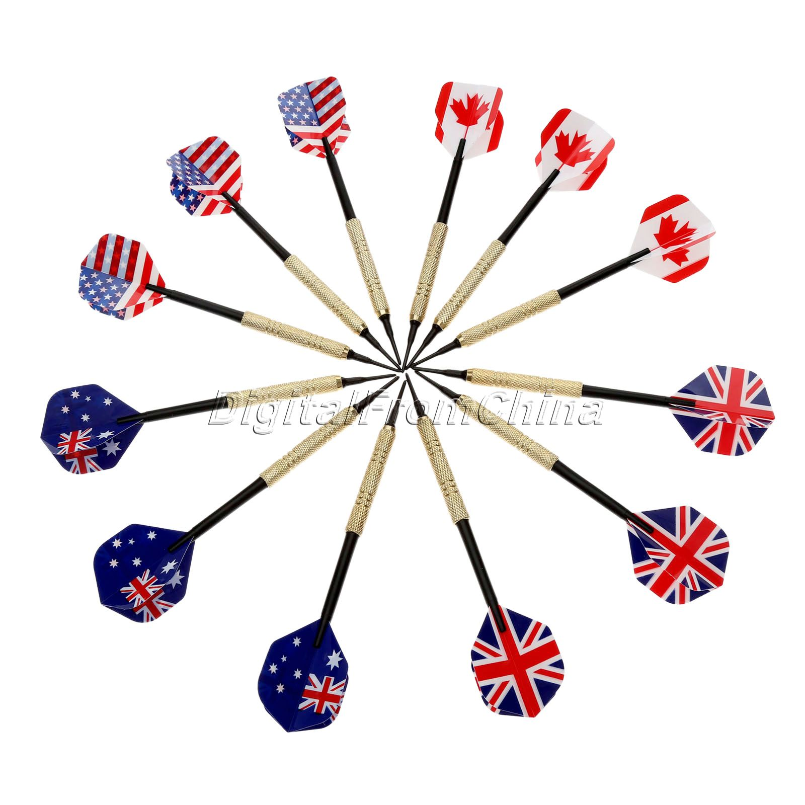 NEW Sports Accessories 12Pcs Professional Darts Flights 18g for Electronic Dartboard with Flight+50Pcs Extra Tips Steel Needle(China (Mainland))