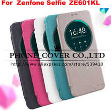 Nillkin Sparkle series flip leather case cover for Asus ZenFone 2 Laser ZE600KL ZE601KL 6.0 Phone cases for Asus ZE601KL+package(China (Mainland))