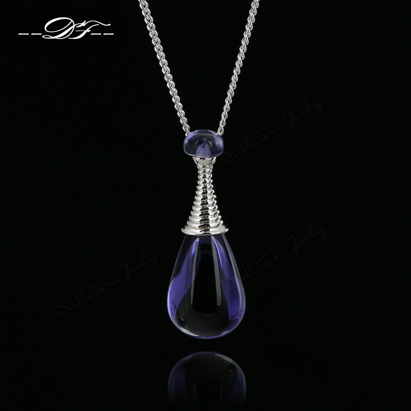 Top Quality Purple Rhinestone Perfume Bottles Design Vintage Necklaces & Pendants World Fashion Jewelry For Women colares DFN224(China (Mainland))