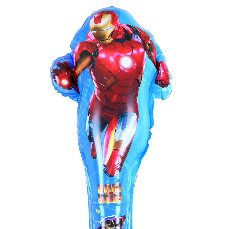 5pcs Long Blow 80X30CM Cheering Sticks Balloon Cartoon Iron Man Birthday Party Decoration Kids Toys Refueling bar Balloons(China (Mainland))