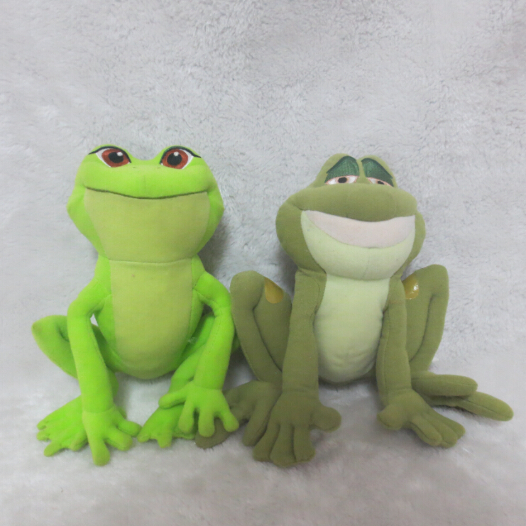 2pcs/lot The Princess and the Frog Princess Tiana as Frog Plush Toy And Prince Naveen as Frog Plush Toy 17cm(China (Mainland))