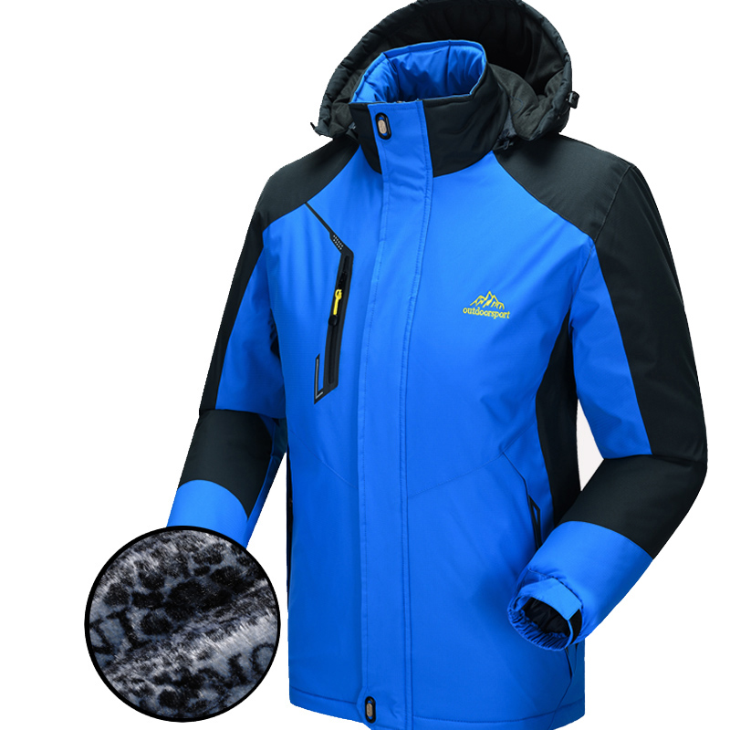 2016 Hot Sale Fleece Thermal Cotton-padded Clothes Winter Cycling Jackets Warm Bike Bicycle Jerseys Blue Lovers Coat for Ride(China (Mainland))