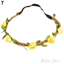 Boho Style Floral Flower Women Girls Hairband Headbands Festival Party Wedding 01NP 3DS2(China (Mainland))
