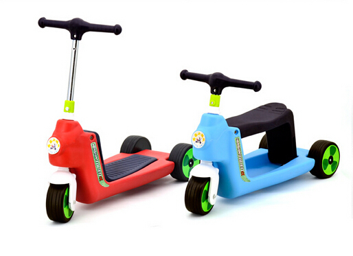 Baby Kids 2 1 Tricycle Balance Safe Buggy Scooter Walker Ride Bike