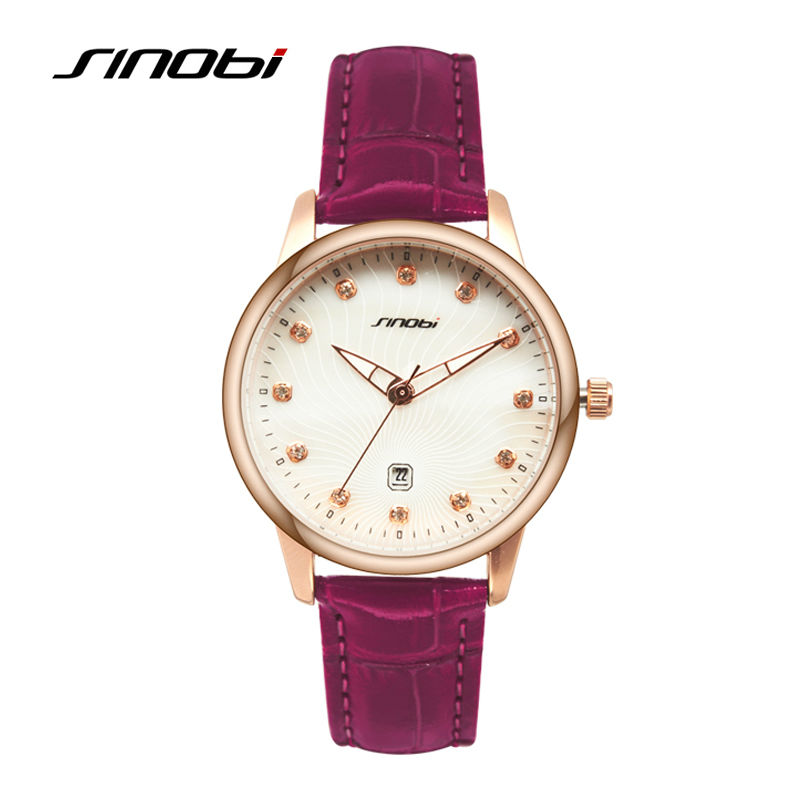 Sinobi Ladies Luxury Quartz Wrist Watch Purple Strap Fashion Women Wristwatches Female Famous Brands Casual Watches Montre Femme<br><br>Aliexpress