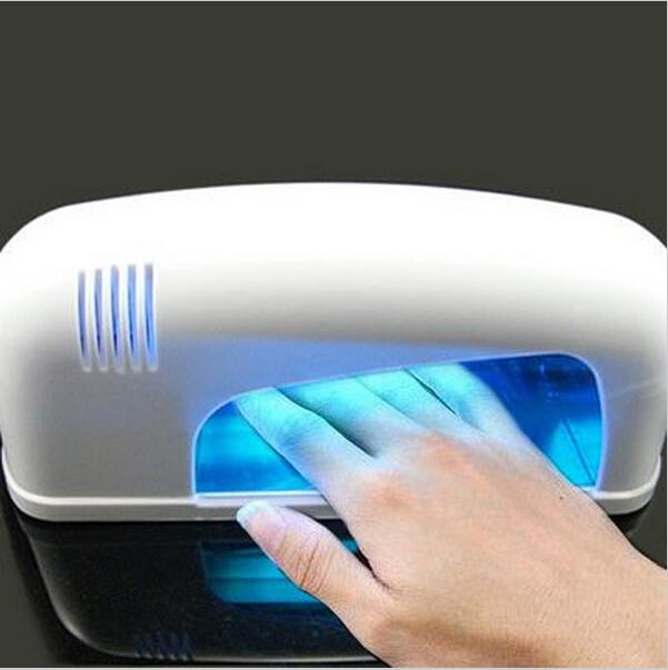 Lampada Curing Unhas De Gel UV Light Nail Dryer 9W Gel UV Lamp Manicure Tool nail dust collector beauty salon equipment(China (Mainland))