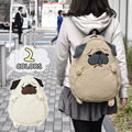 Japanese Style 2 Color Pug dog Backpack Women Girl Student Kids Bag Shoolbag Cute Gift