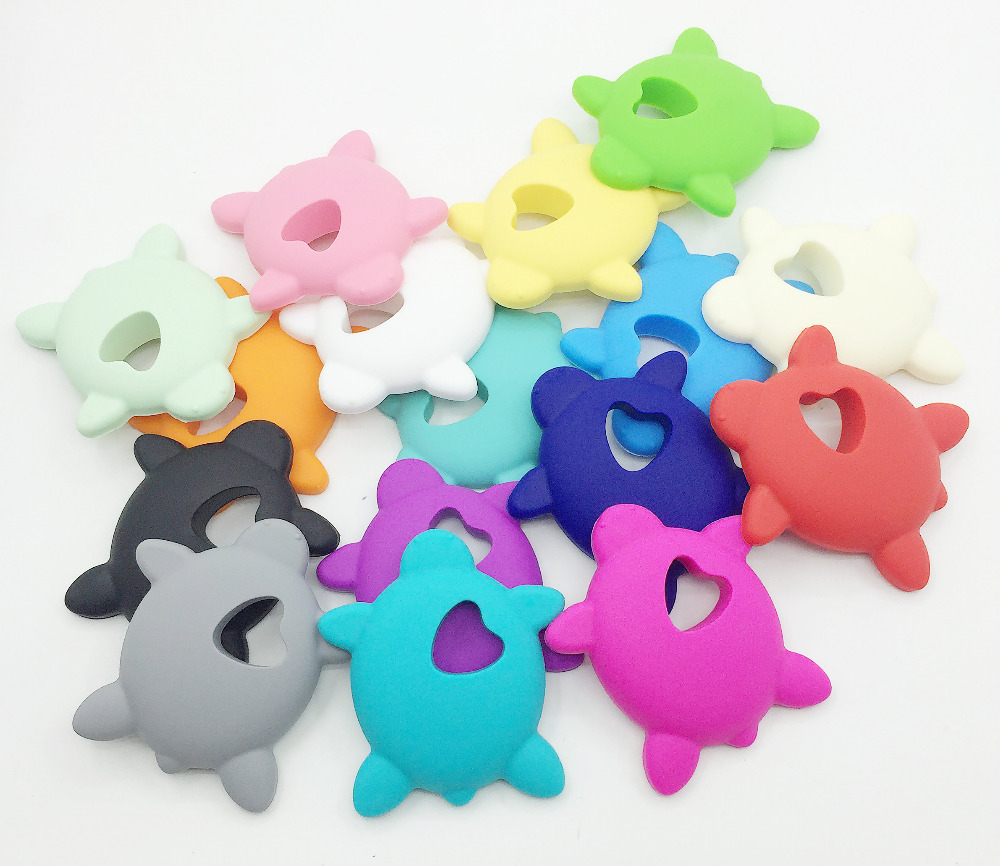 Silicone Teething Sea turtle Necklace silicone Teething Pendant Jewelry silicone necklace Free shipping
