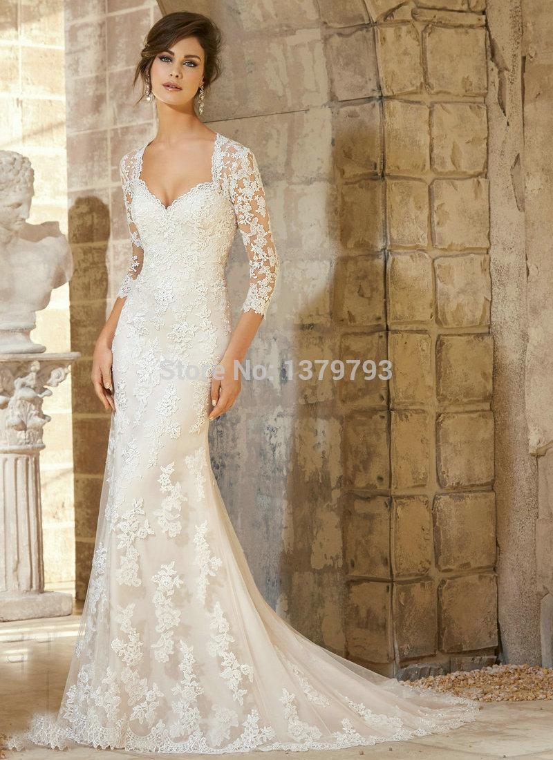 Vintage Long Sleeve Wedding Dresses Cocktail Dresses 2016