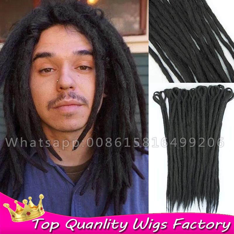 Hair Extensions For Men : Black Dendy Dreadlock faux locs crochet hair Man dreadlocks extensions ...