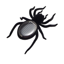 Solar Toy Solar Powered Toy Spider Tarantula Gadget Black Juegos Solares Juguetes Solares For Children Learning Educational Gift(China (Mainland))