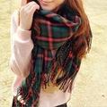 za women winter scarf 2015 Brand Plaid Scarf New Designer Cashmere Basic Shawls Women Scarves Big