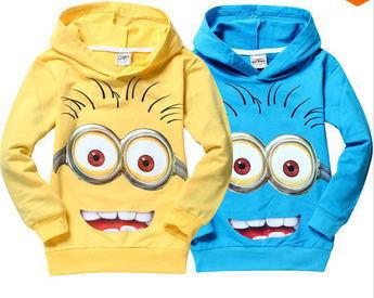 Hot Sale Minion Children T shirt Despicable Me Minions Clothes Boys Clothing Child Spring Hoodies Tops&Tee Girls Nova T-Shirt(China (Mainland))