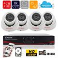 SUNCHAN 4CH Full HD 1080P 4 Channel Home Surveillance System 1920 1080P 4CH AHD DVR Kit