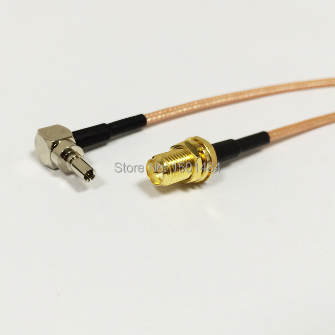 3G modem antenna extension CRC9 right angle switch RP SMA female pigtail cable RG316 for 3G HUAWEI  E156 E160 NEW<br><br>Aliexpress