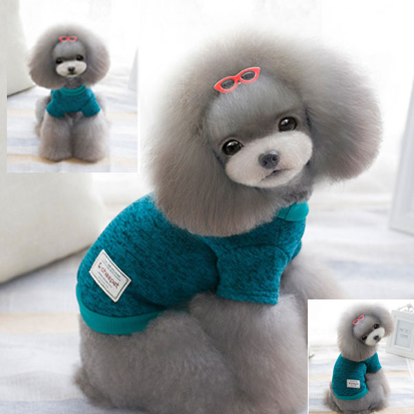 Cute Small Pet Dog Knitwear Outdoor Spring Winter & Autumn Warm Puppy Coats Sweater Clothes Jumper New Arrival for Pet products(China (Mainland))