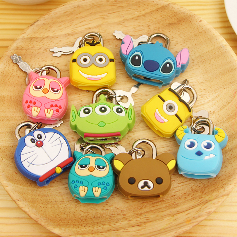 cute cartoon variety of animal lock small size exquisite small lovely cartoon door compact silicone cartoon lock<br><br>Aliexpress