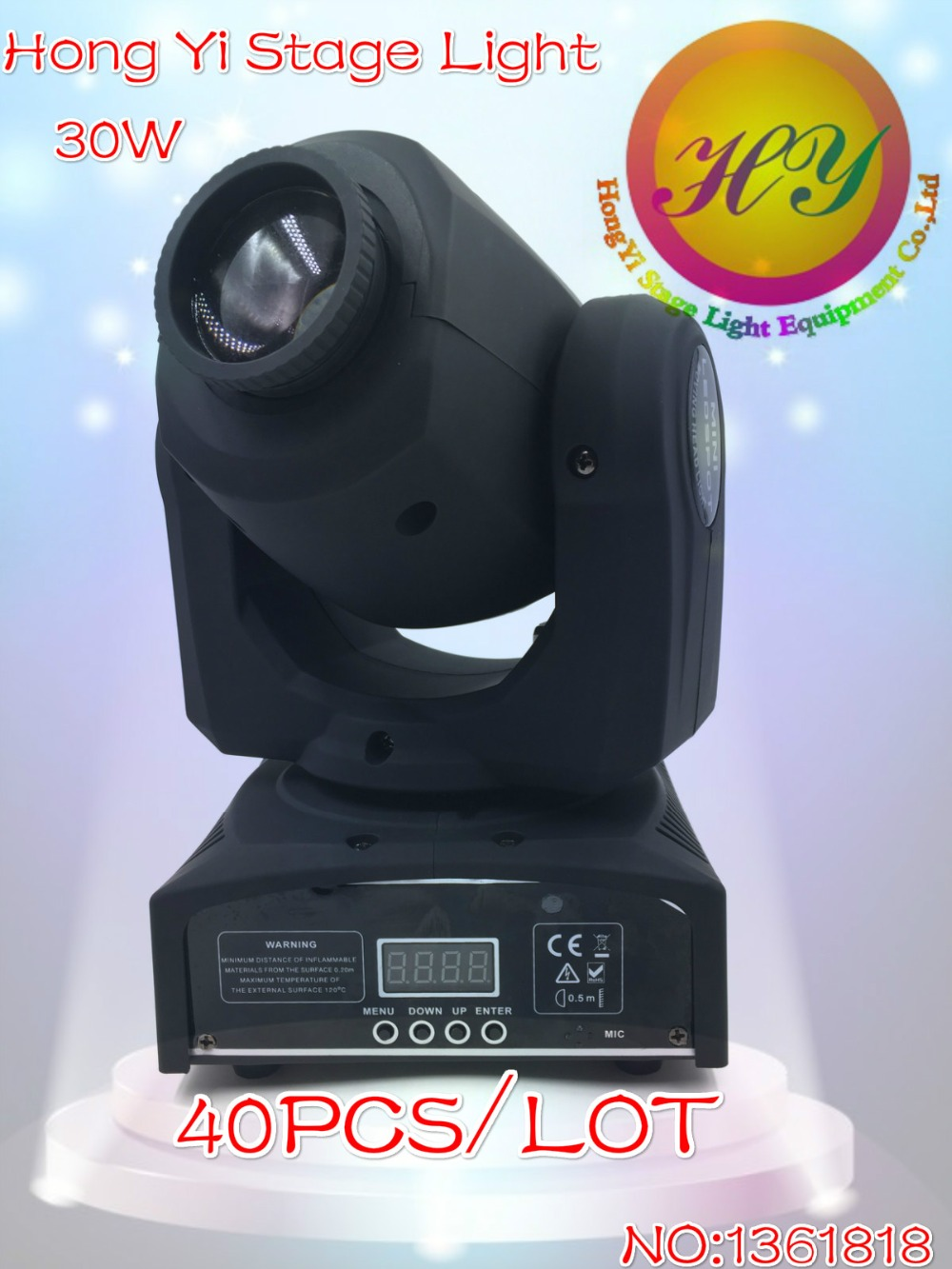 40PCS DMX512 30W LED gobo Moving Head Lighting spot lighting dj set gobo christmas lights dj light projector for bar party event(China (Mainland))