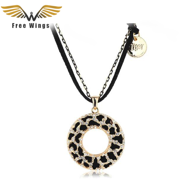 Free Wings Bohemian Jewelry Women Long Black Hollow Zebra Circle Necklaces Pendants love bijoux Vintage accessories 10D - Metoo520 store