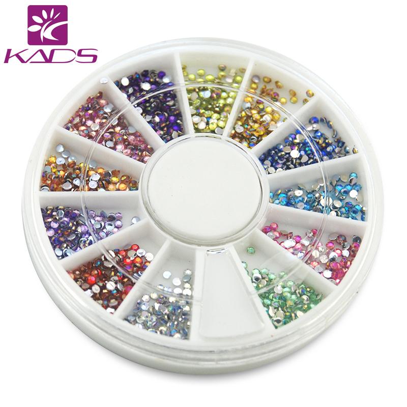 2015 new Hot Sale1.5MM Circle AB DIY Mixed Shinny acrylic nails rhinestones manicure mixed 12 colors 600pcs Diamond Decoration(China (Mainland))