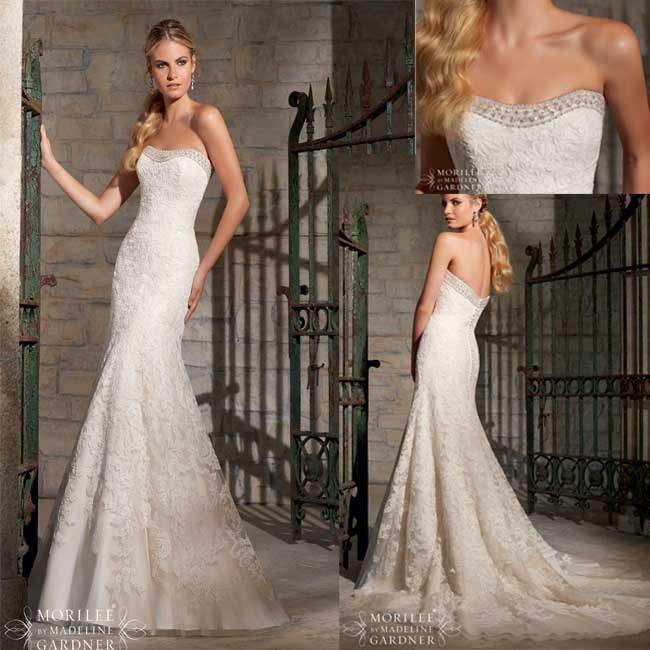 New fashion bridal gowns low back 2015 spring mermaid for Beaded low back wedding dress