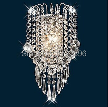 Artistic Stainless Steel Plating Modern Led Crystal Wall Light Lamp For Home Wall Sconce Free Shipping,AC,E14,Bulb Included<br><br>Aliexpress