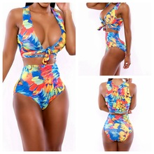 2016 New Sexy Bikinis Women Swimsuit High Waisted Bathing Suits Swim Halter Top Push Up Bikini Set Beach Plus Size Swimwear