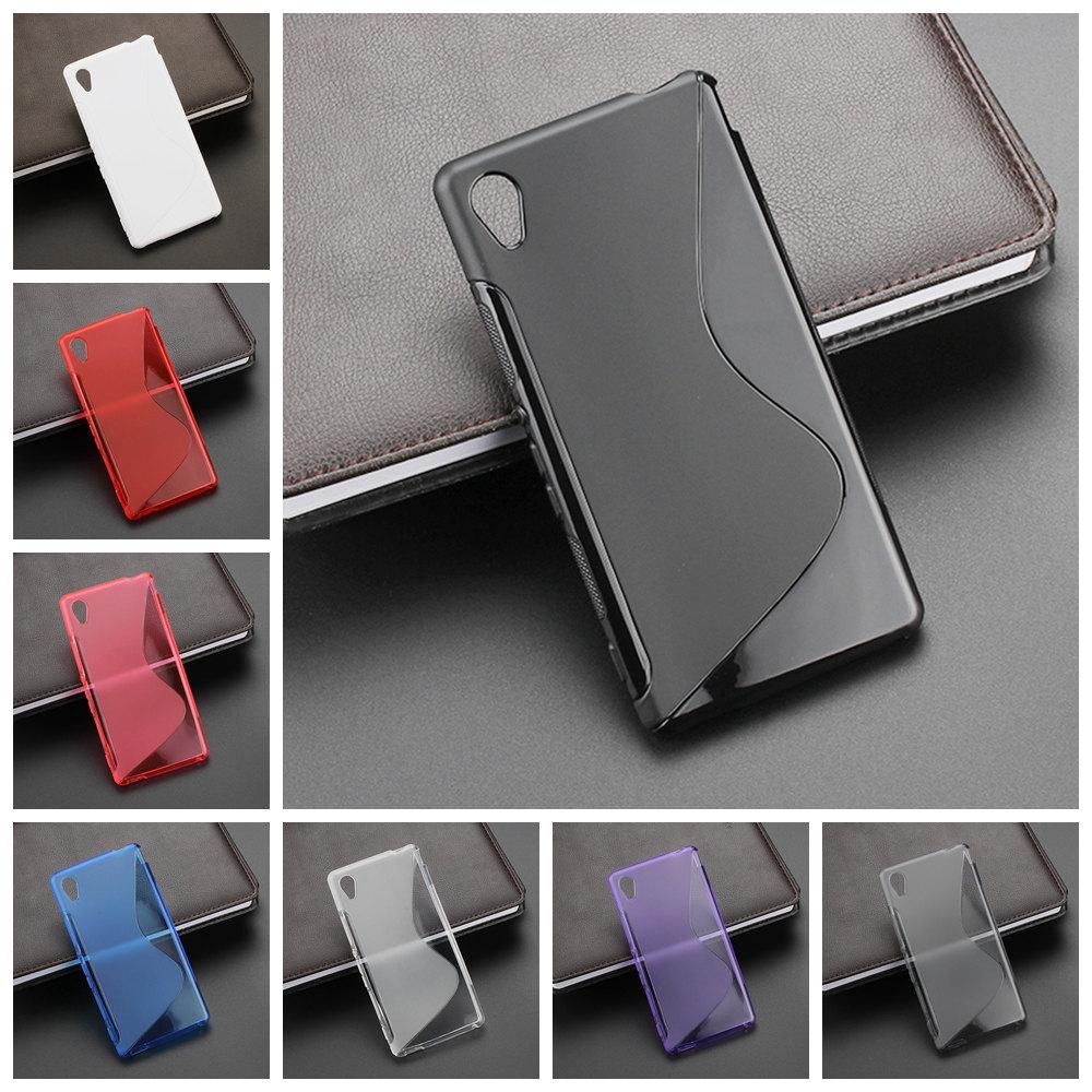 Гаджет  New High Quality Multi Color S-line Flexible Soft Gel Tpu Silicone Skin Slim Back Case Cover For Sony Xperia M4 Aqua Dual None Телефоны и Телекоммуникации