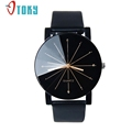OTOKY Quartz Men Watches Clock Fashion Leather strap Watch Round Case Black wristwatch relogio male Gift