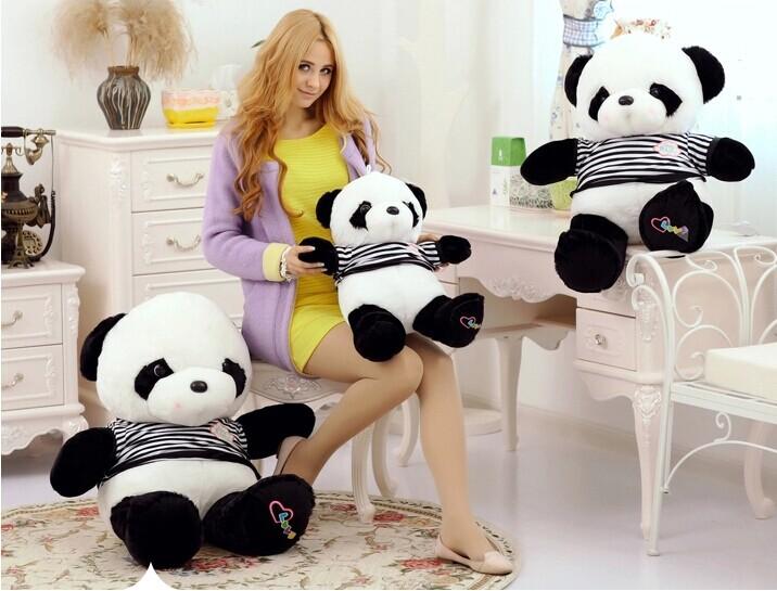 55cm panda plush toy sweater panda doll children's gift w6978(China (Mainland))