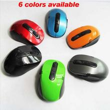Portable Optical Wireless Mouse USB Receiver RF 2.4G For Desktop & Laptop PC Compute Peripherals Accessories 6 colors