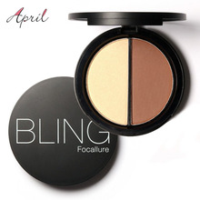 Bling Focallure Shimmer Bronzers and Highlighters Powder Makeup Concealer Highlighter for Face Stick Palette Make Up Contour(China (Mainland))