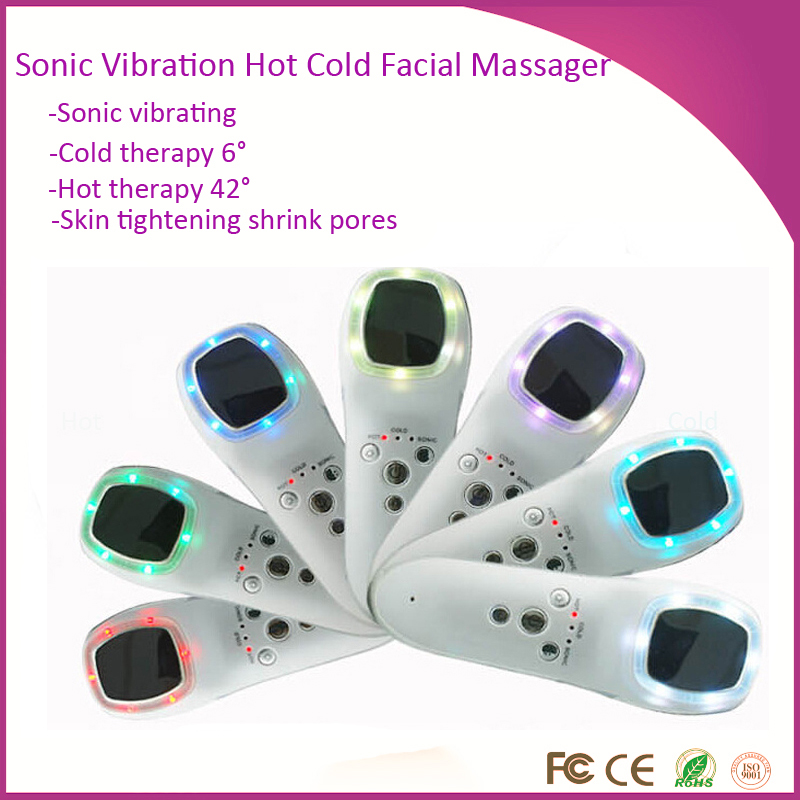 Фотография Deep Cleansing Shrink Pores Wrinkle Removal Sonic Vibrating Hot Cold Therapy  Photon Skin Rejuvenation Face  Beauty Massager