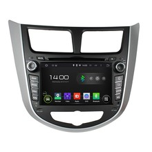 HD1024*600 Quad Core 1.6G CPU 16GB Android 5.1.1 Car DVD Player Radio GPS Navi Stereo for HYUNDAI Verna Accent Solaris 2011 2012