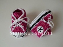 High quality ,Handmade Crochet Baby Shoes,Crochet knitting baby shoes,free shipping to all country(Hong Kong)