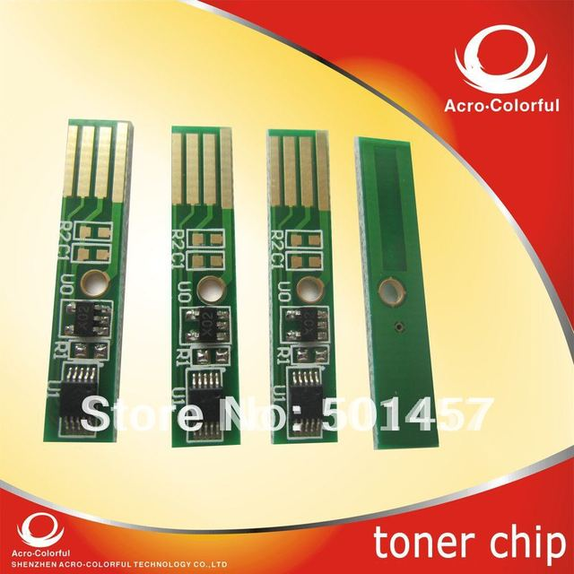 Compatible spare parts refilled laser printer color cartridge reset toner chip for dell  2150 2155