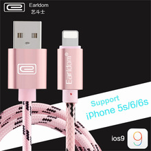 2016 Earldom Micro usb cable Leather buckle Nylon Braided mobile phones cables for iPhone 6 6s Plus 5s iPad mini / Samsung / HTC