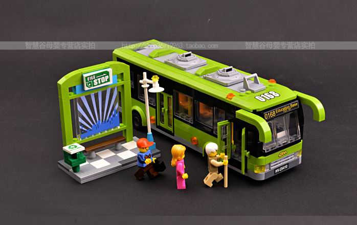 Artificial car model puzzle blocks toy bus model assembly for bus luxury bus(China (Mainland))