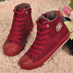 Бесплатная доставка зимний высокого верха холст обувь женщины плоские туфли свободного ...
