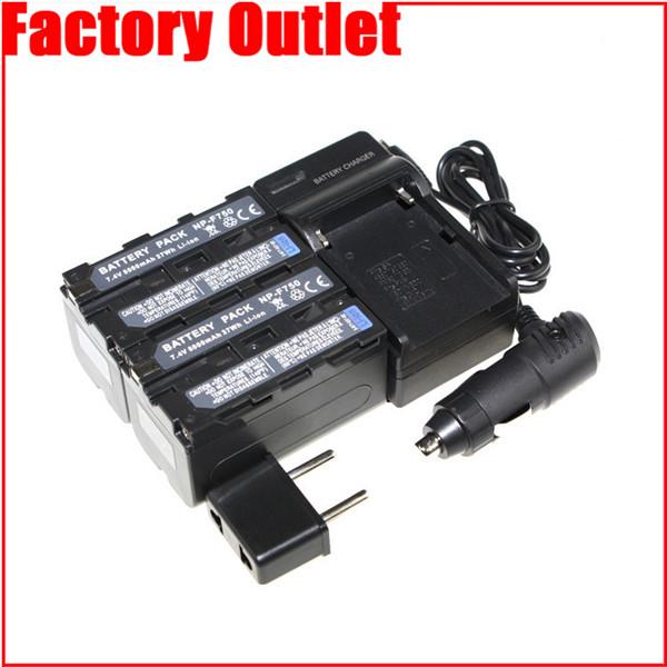 Гаджет  NP-F750 Camera Battery + Charger + Car Charger NPF750 For Sony NP-F770 NP-F960 NP F550 F570 F750 F970 DCR-TR8100 CCD-TRV26E None Электротехническое оборудование и материалы